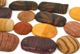 Деревянные кабошоны ручной работы, из экзотической древесины
